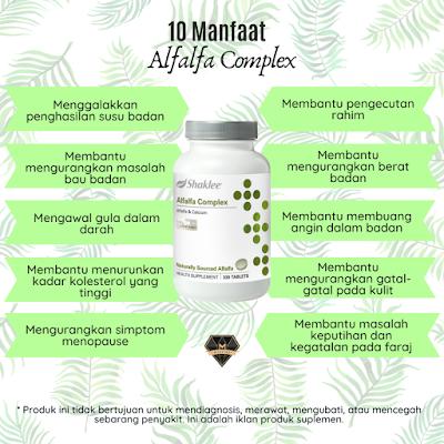 10 Manfaat Alfalfa Complex Shaklee