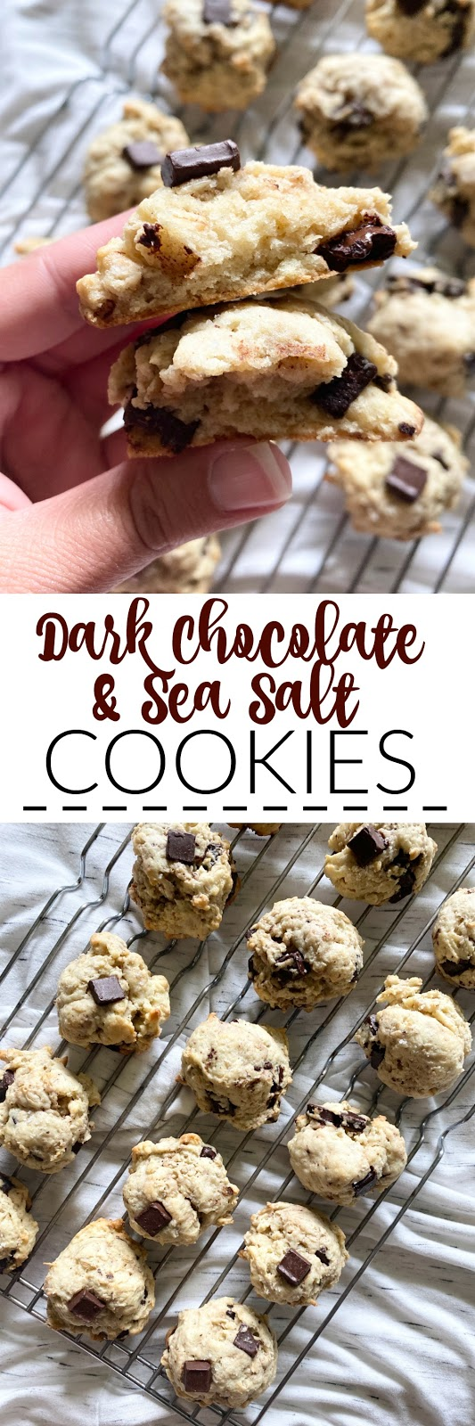 dark chocolate sea salt cookies #sweetsavoryeats #cookies