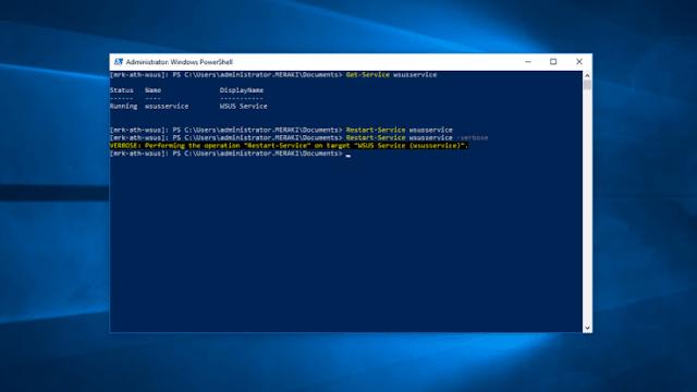 أعد تشغيل خدمة WSUS باستخدام PowerShell و CMD
