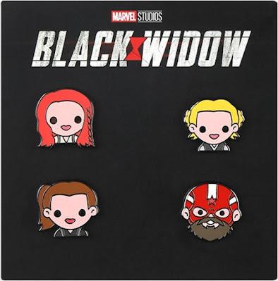 Black Widow Emoji Pin Set by 100% Soft x Disney Movie Insiders