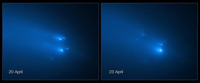 Hubble registra cometa Atlas se despedaçando na órbita de Marte/NASA/Reprodução