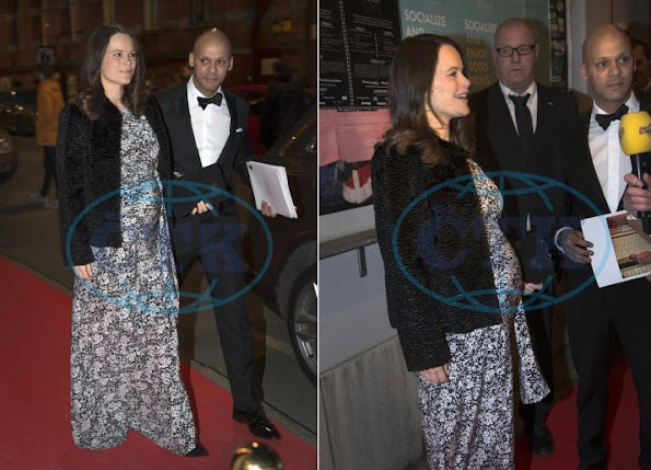 Princess Sofia Hellqvist attend the charity dinner of Project Playground. Sofia Hellqvist style