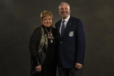 Terri Parsons (widow of 2017 NASCAR Hall of Fame inductee Benny Parsons and Dale Jarrett (NASCAR Hall of Fame)