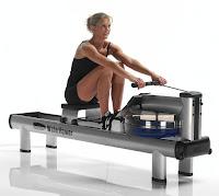 WaterRower M1 HiRise Rowing Machine in action