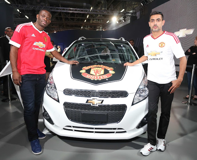 Manchester United Legend Louis Saha at Auto Expo India 2016 with Chevrolet Beat