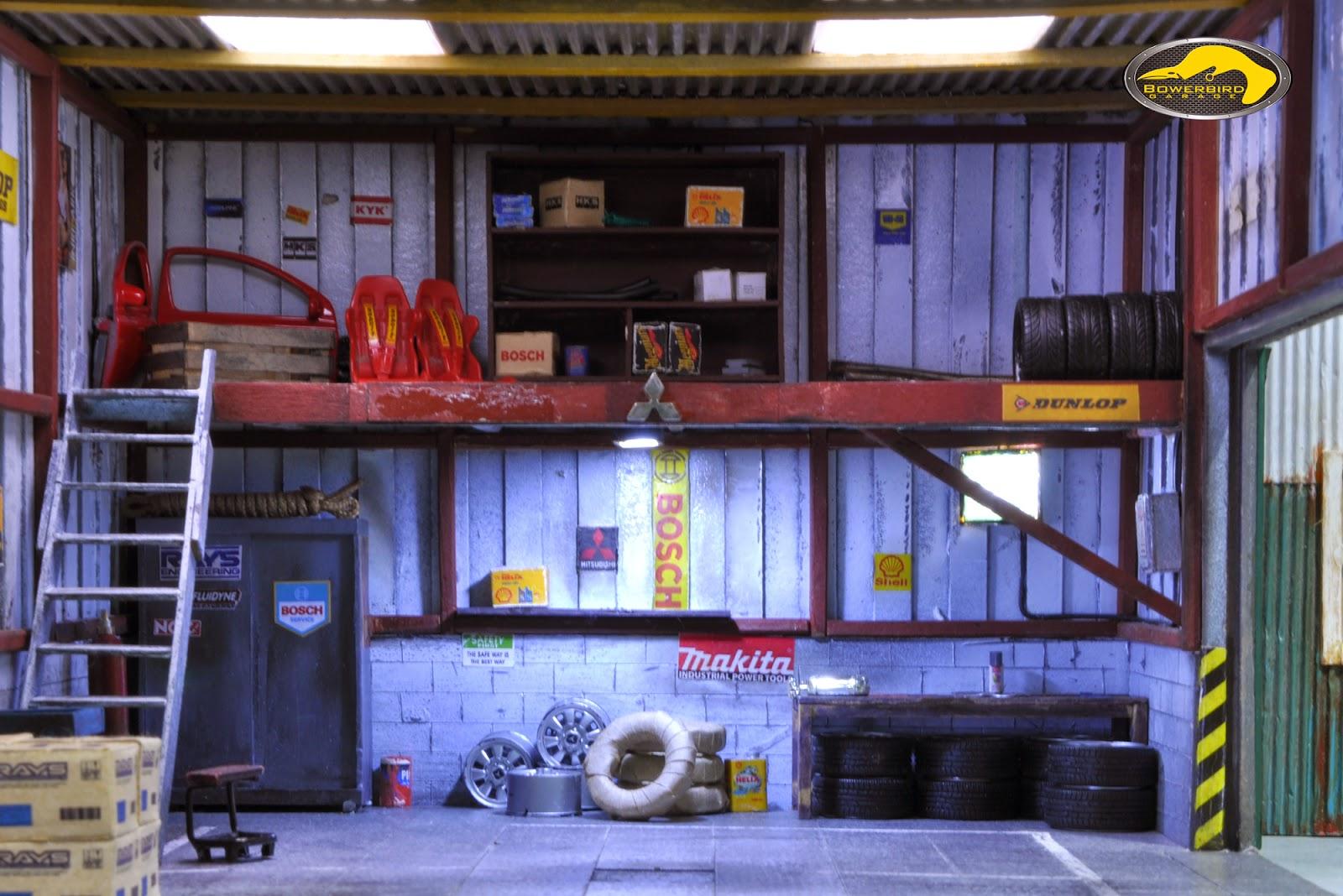 Bowerbird Garage Diorama Jdm Garage Diorama Jinri 3 0