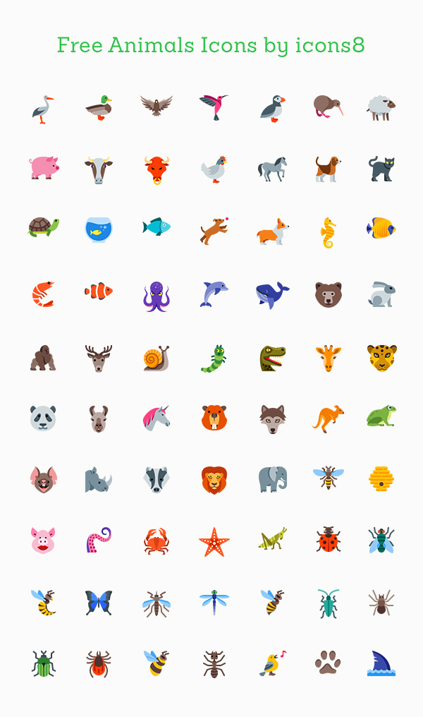 70+ Free Animal Icons for Your Designs