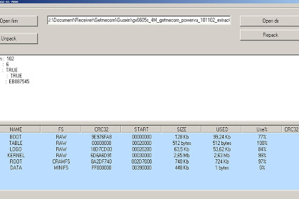 √ Aplikasi Edit Firmware Unpack Repack Software GX6605S
