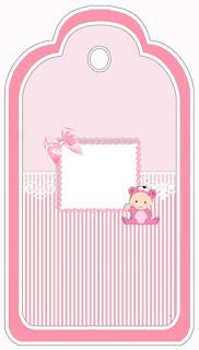Para marcapáginas de Bebé Niña en Rosa.