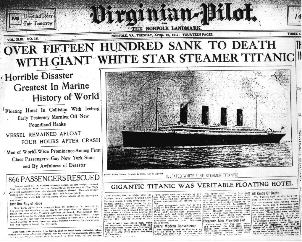 extramarks education the sinking of the ocean queen titanic