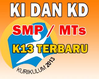 Download KI dan KD Kurikulum 2013 Untuk SMP/MTs Revisi Terbaru 2016/2017