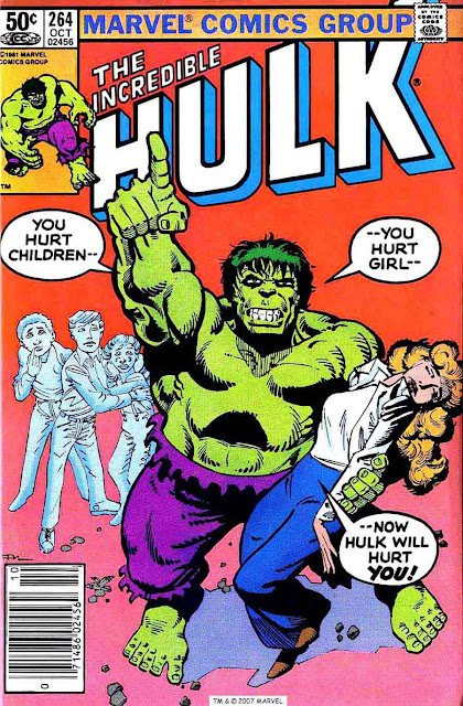 Incredible Hulk v2 #264 marvel comic book cover art by Frank Miller