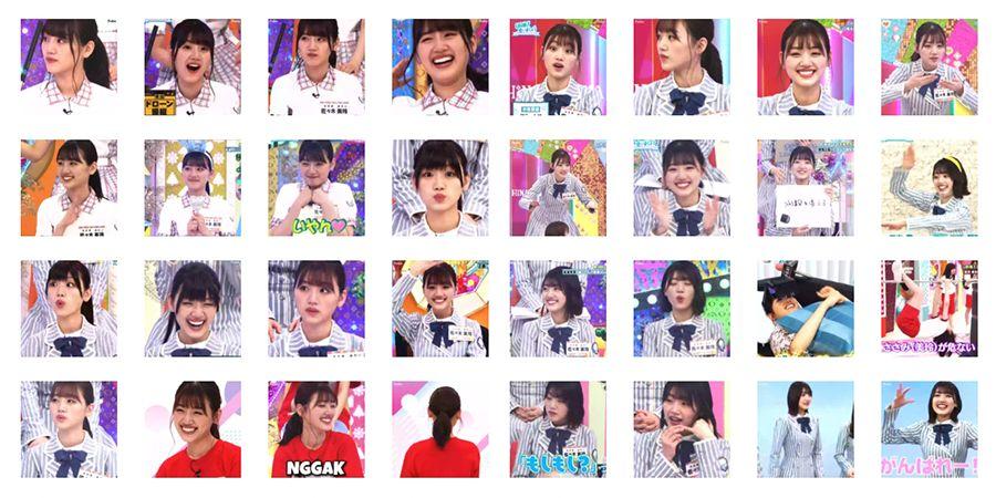 Cuplikan Aplikasi Stiker Gerak WhatsApp Sasaki Mirei - Hinatazaka46 v1.2