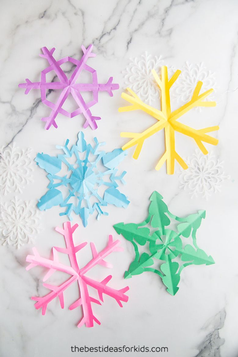 snowflake craft template