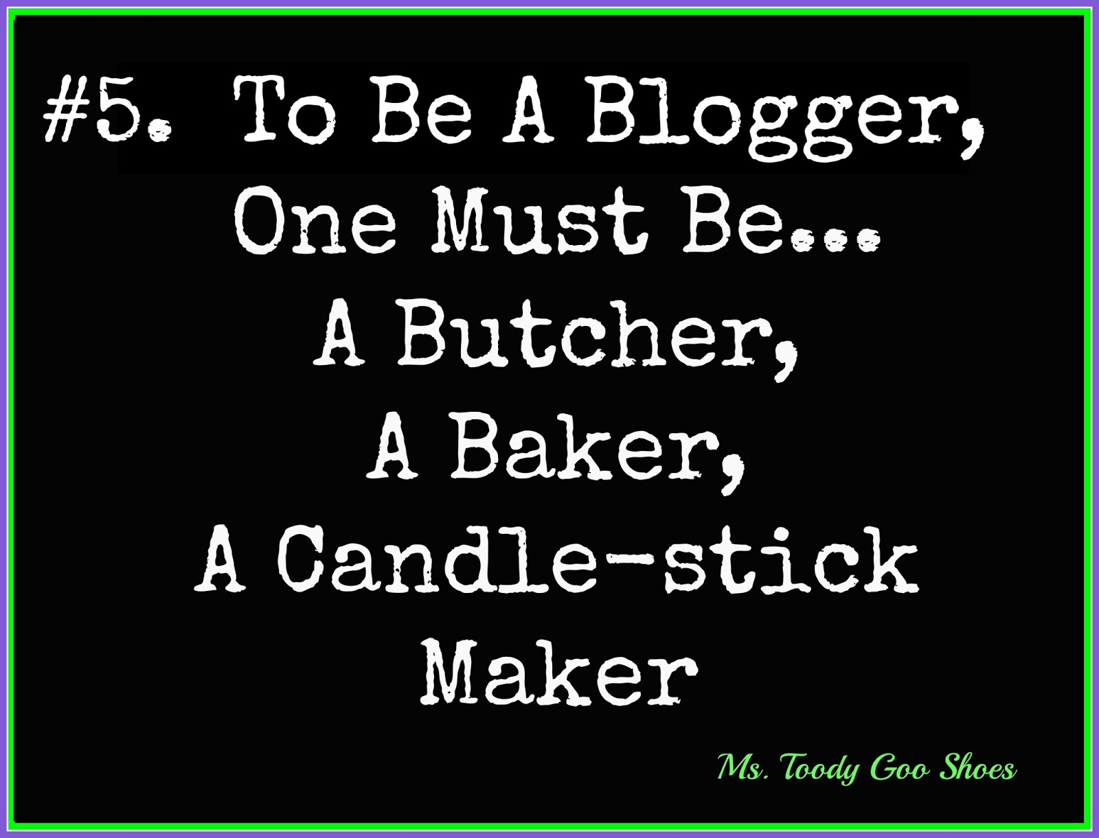 You Can't Frost A Cake With Mod Podge, and Other Things I've Learned From Blogging by Ms. Toody Goo Shoes