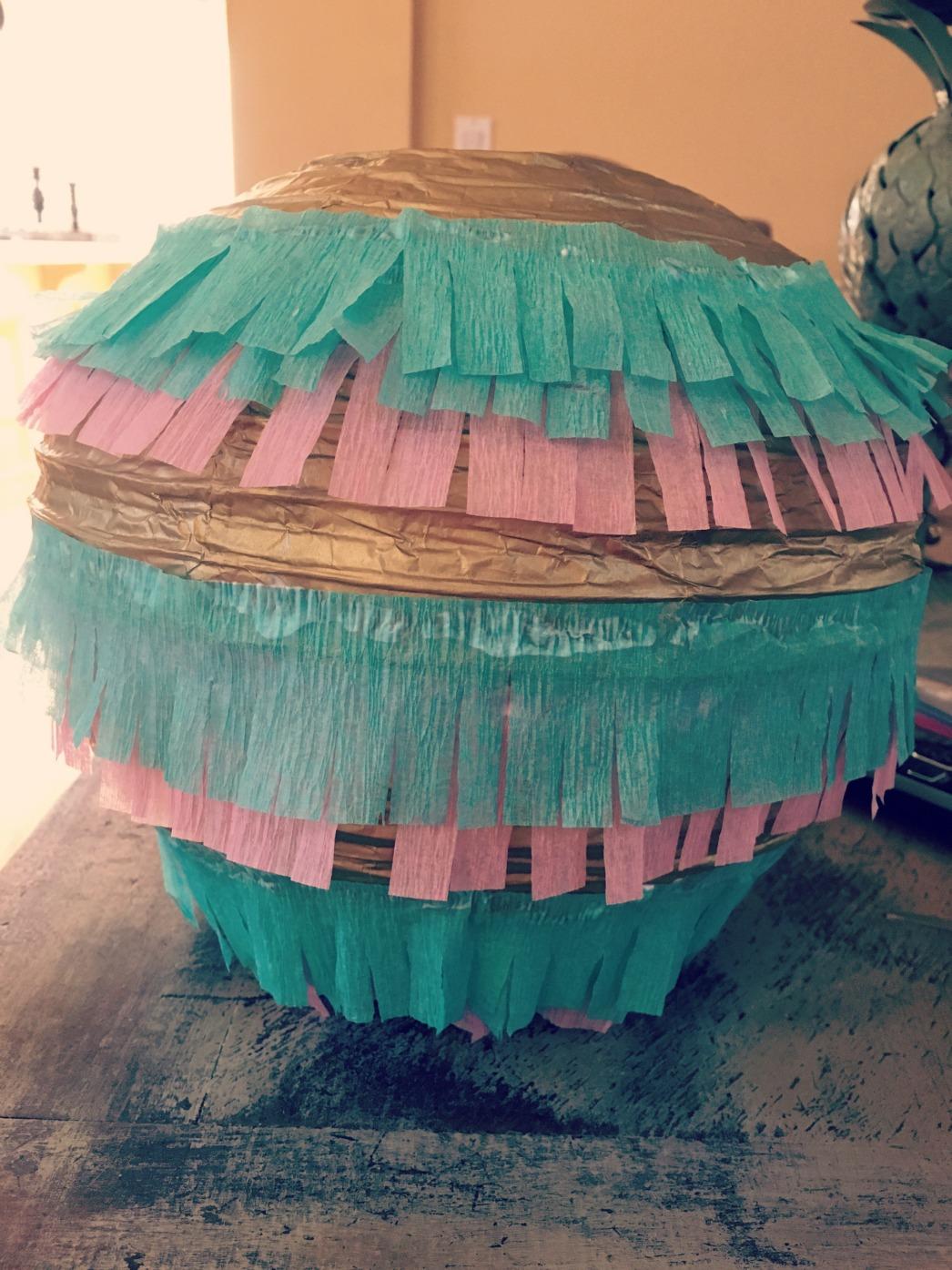 Diy Gender Reveal Pull String Piñata A Lil Bit Fancy