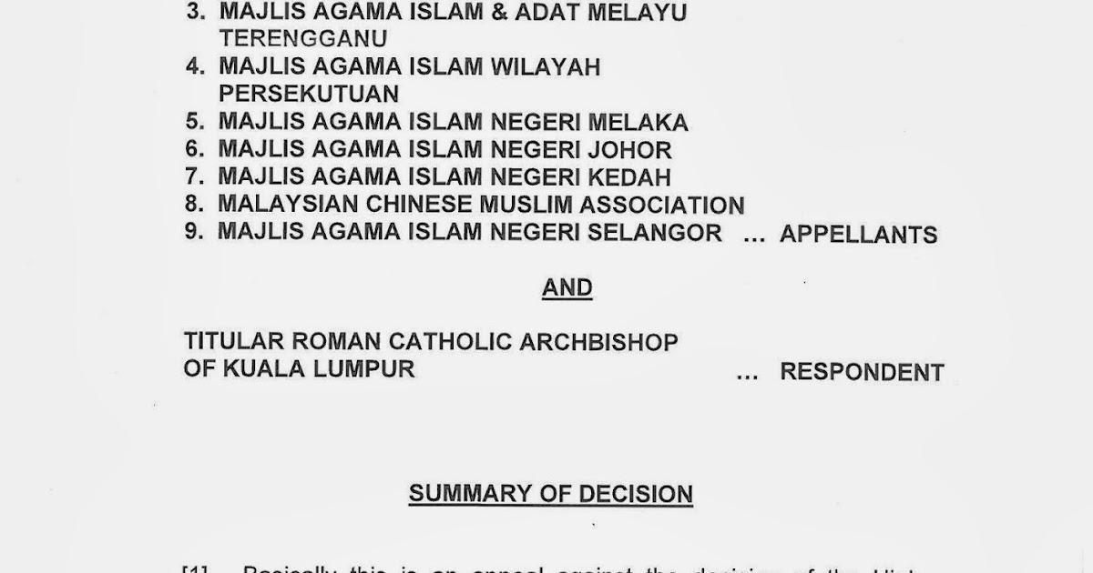Omgzi's blog: Kalimah Allah : Court of Appeal's Judgement