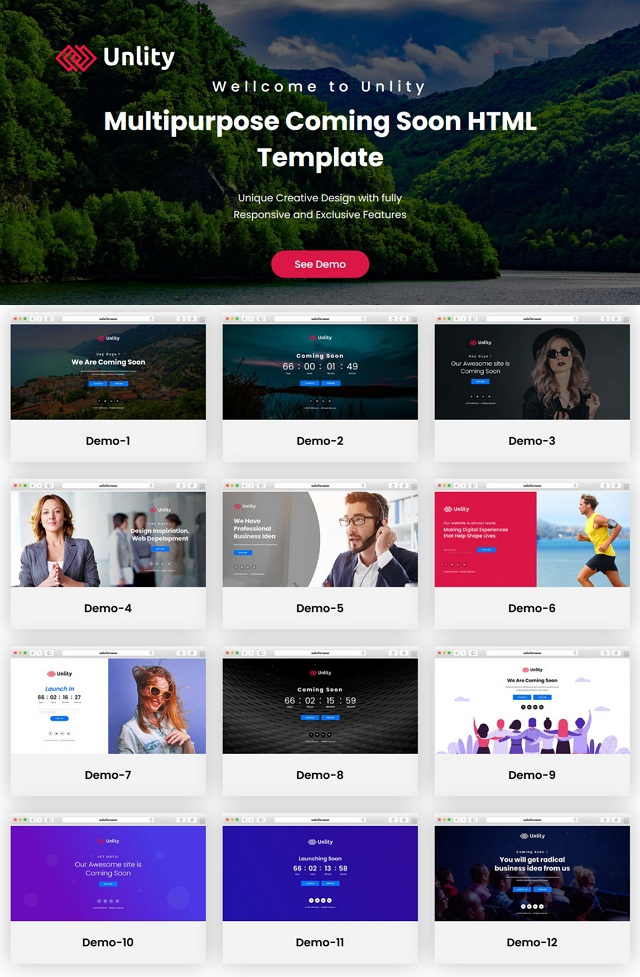 Multipurpose Coming Soon Bootstrap Template