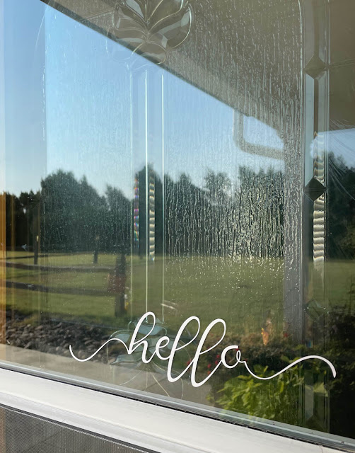 Hello Screen Door Greeting by Thistle Thicket Studio. www.thistlethicketstudio.com