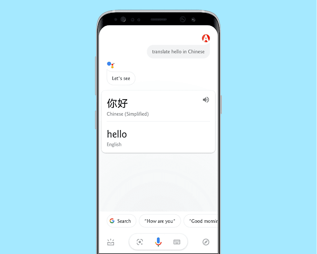 Instant Translation with google assistant