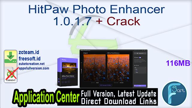 HitPaw Photo Enhancer 1.0.1.7 + Crack_ ZcTeam.id