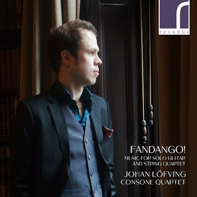 Dionisio Aguado, Mauro Giluiani, Napoleon Coste, Fernando Sor, Giulio Regoni, Luigi Boccherini - Fandango! Music for solo guitar and string quartet; Johan Löfving, Consone Quartet, Nanako Aramaki; Resonus Classics