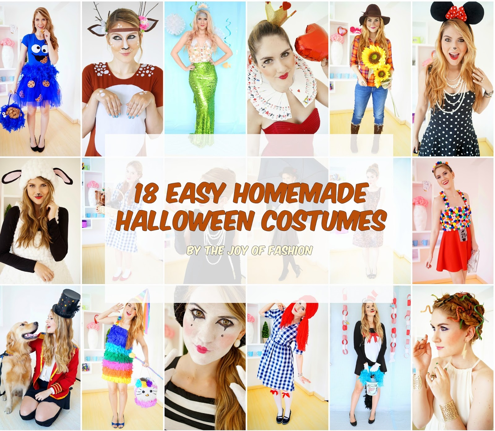 The Joy of Fashion: {Halloween}: 18 Easy Homemade Costumes