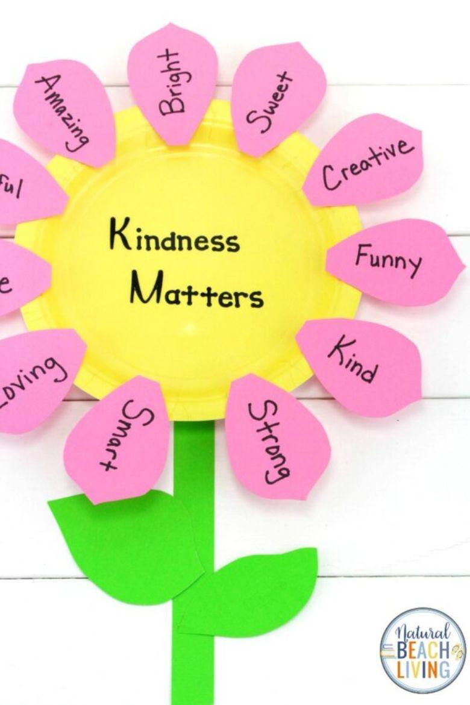 kindness flower craft for kids