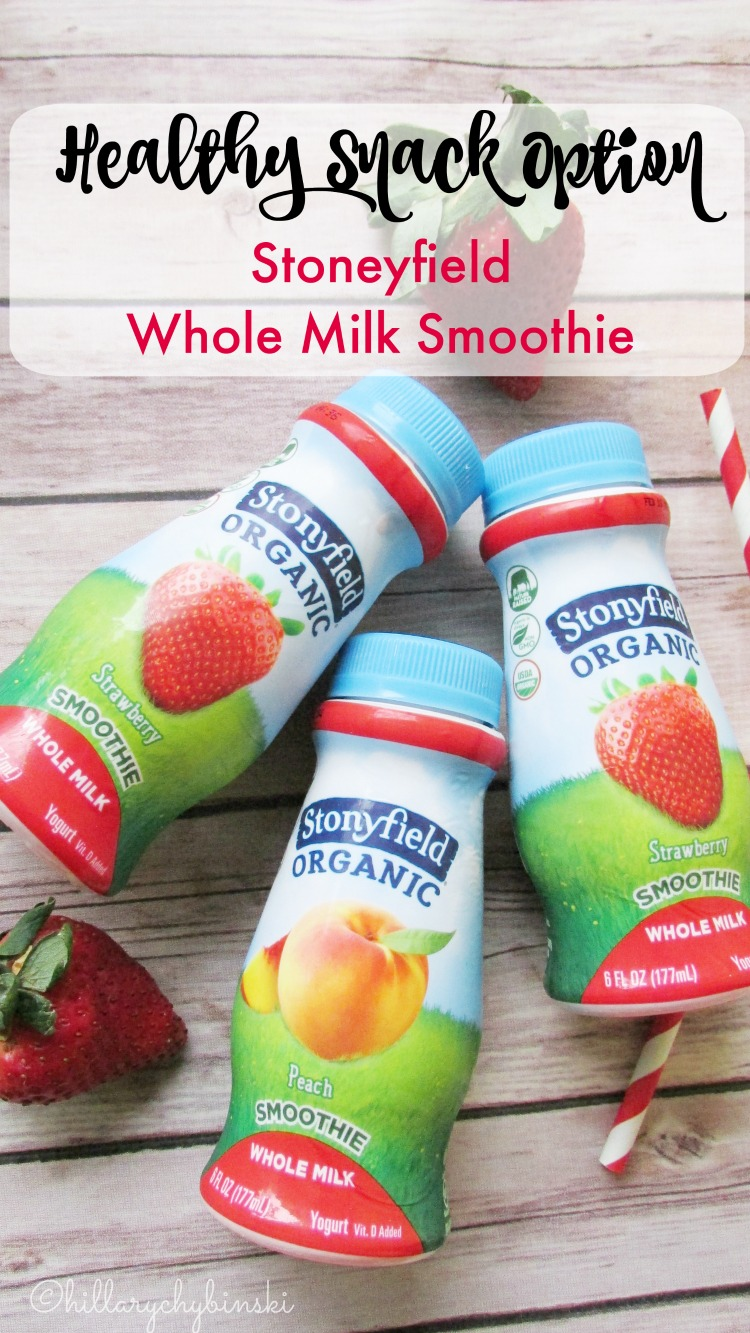 Stoneyfield Whole Milk Smoothies Can Be a Healthy Snack Option