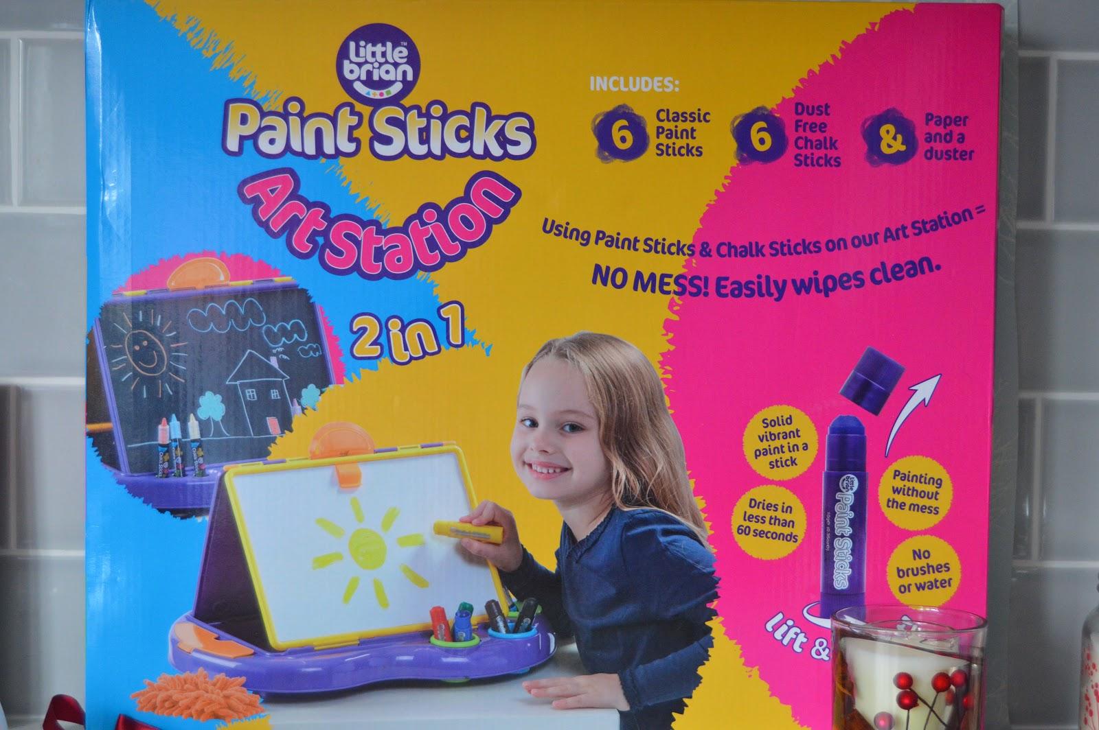 Little Brians Paint Sticks art station