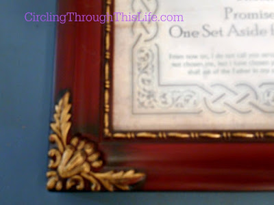Redwood Decorated Frame of the Name Plaque with Meaning and Bible Verse from CrossTimber #hsreviews