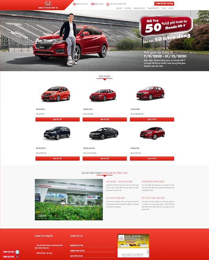 Mẫu website Xe Ô tô giá rẻ