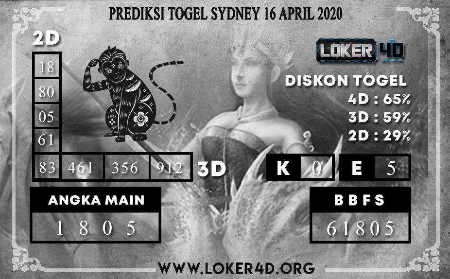 PREDIKSI TOGEL SYDNEY LOKER4D 16 APRIL 2020