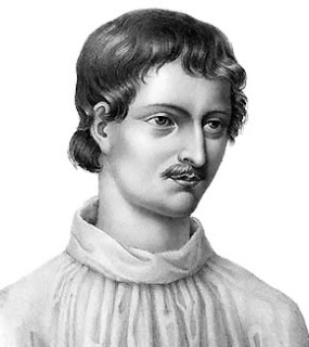 Giordano Bruno's beliefs brought him into conflict with the church from an early age