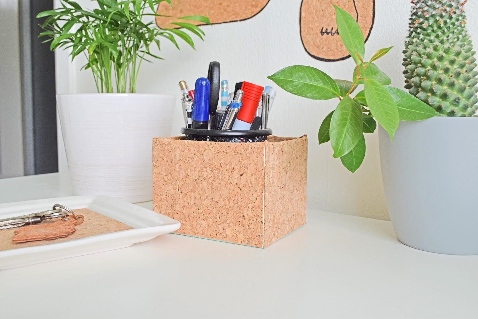 dekoracje diy na biurko