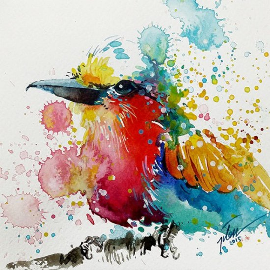 Tilen Ti pinturas aquarela colorida animais