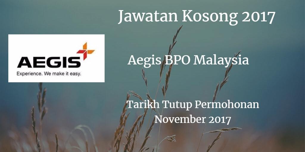 Jawatan Kosong Aegis BPO Malaysia November 2017