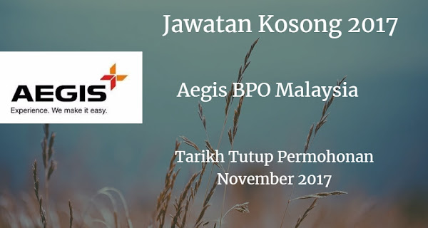Jawatan Kosong Aegis BPO Malaysia November 2017 el wire harness wire harness manufacturing process \u2022 wiring jawatan kosong jk wire harness at bayanpartner.co