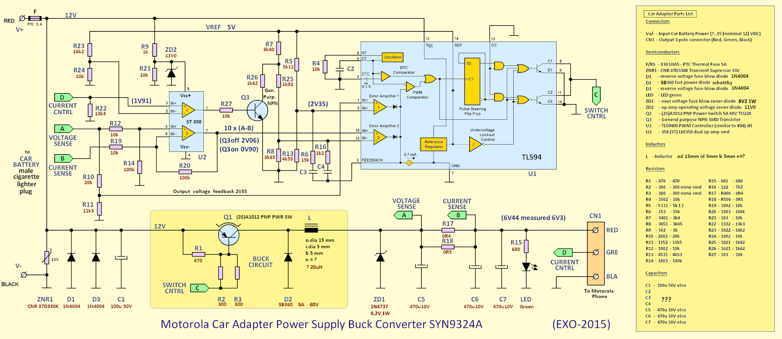 hight resolution of motorola syn9324 car charger schematic