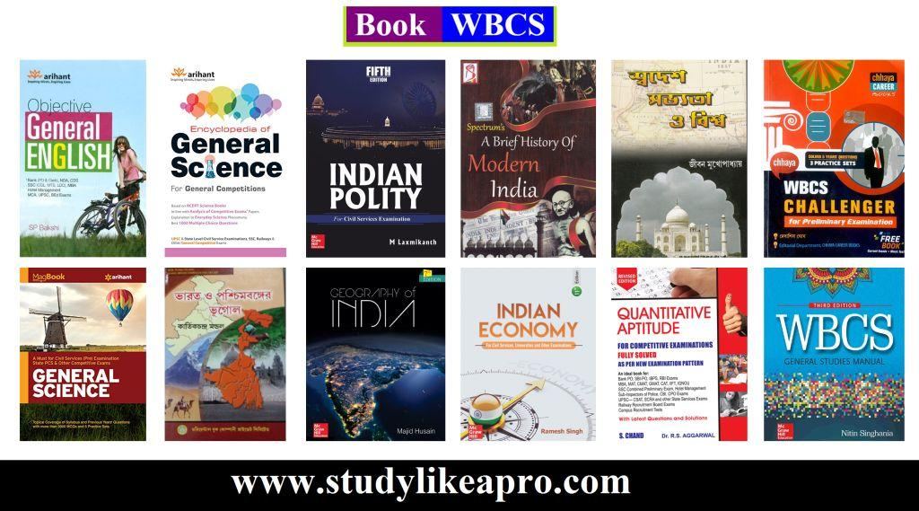 Recommended booklist For WBCS Prelims and Mains Exams