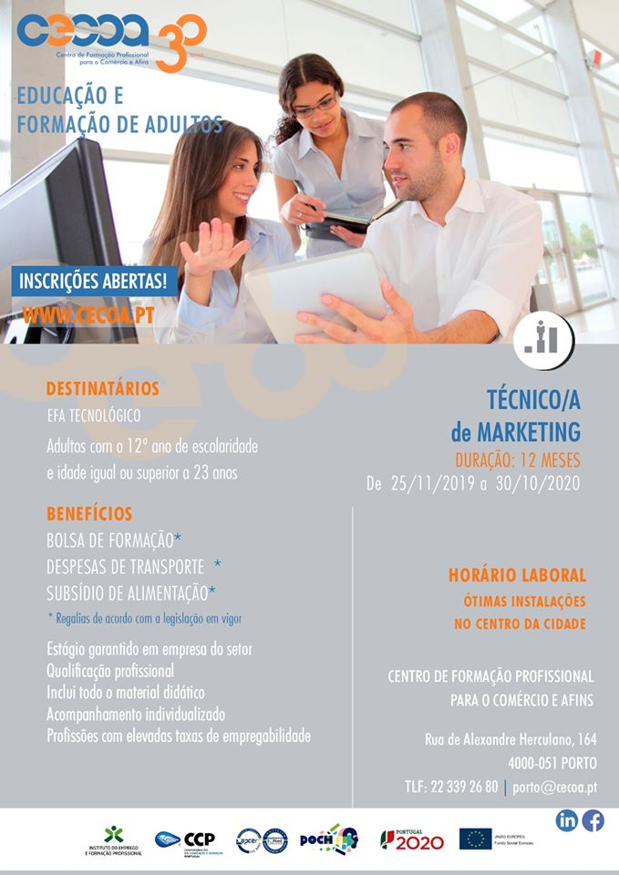 Curso de Técnico de Marketing (EFA Tecnológico) – Porto