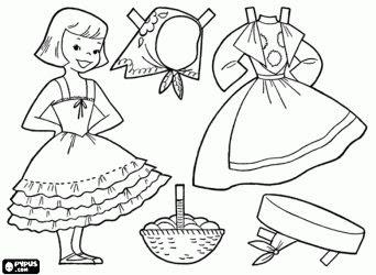 Juegos Y Juguetes De La Abuela Muñecos De Papel Con Trajes