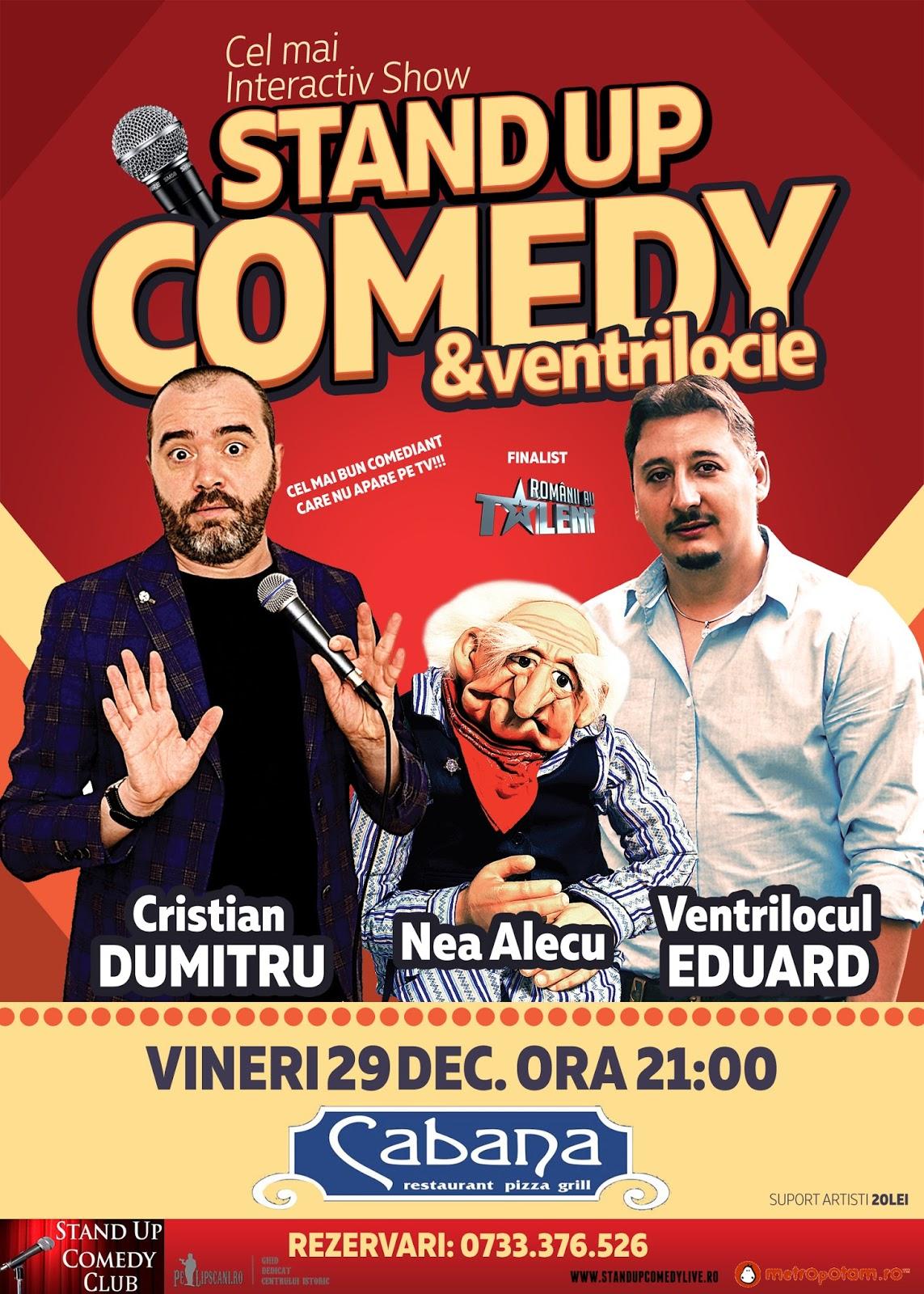 Stand-Up Comedy Bucuresti Vineri 29 Decembrie