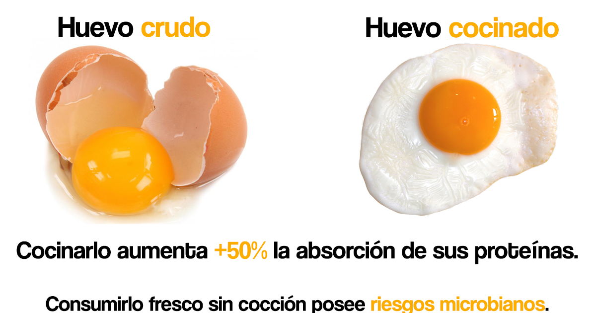 huevo crudo peligro