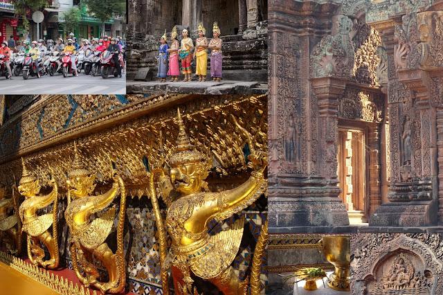 W orientalny deseń - Tajlandia, Kambodża, Wietnam