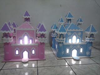 Como fazer castelos em mdf para festa infantil!