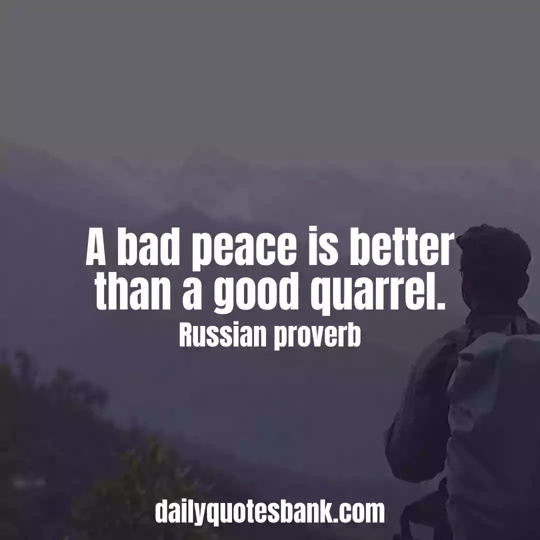 Inspiring Russian Proverbs About Peace Of Mind For Life Lessons