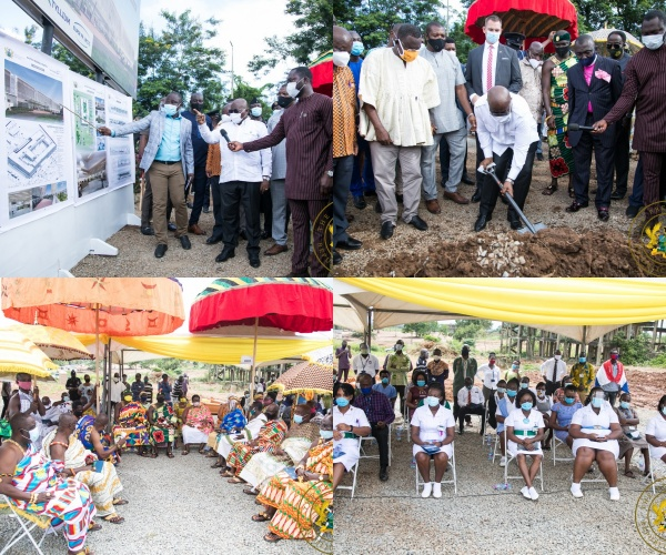 President Akufo-Addo Cuts Sod For €70 Million Eastern Regional Hospital