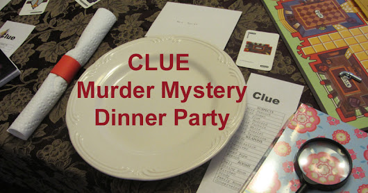 Clue Themed Birthday Party