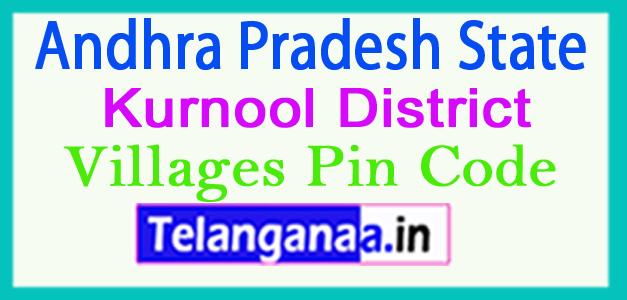 Kurnool District Pin Codes in Andhra Pradesh State